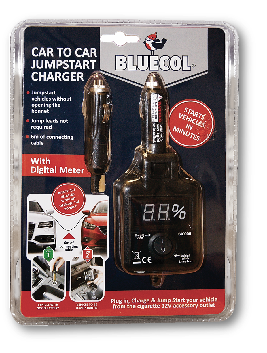 Winter Accessories Bluecol Car To Car Jumpstart Charger